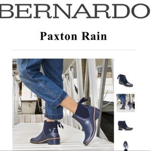 Bernardo Paxton Lace-Up Rain Boots navy
